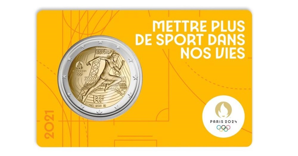 (EUR07.BU.2021.10041355760000) 2 euro France 2021 BU - Paris Olympic Games Front (zoom)