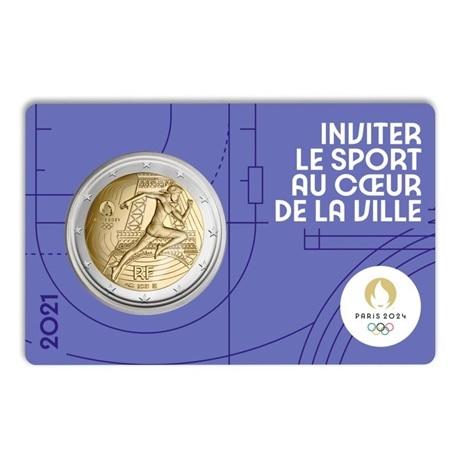 (EUR07.BU.2021.10041355770000) 2 euro France 2021 BU - Jeux Olympiques de Paris Recto