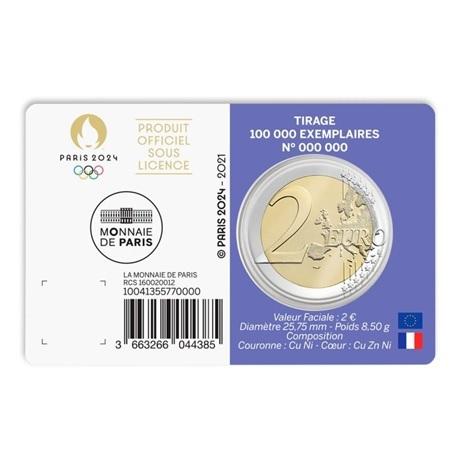 (EUR07.BU.2021.10041355770000) 2 euro France 2021 BU - Jeux Olympiques de Paris Verso