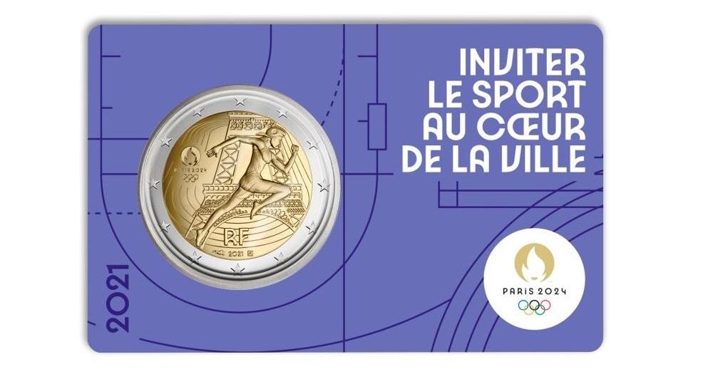 (EUR07.BU.2021.10041355770000) 2 euro France 2021 BU - Paris Olympic Games Front (zoom)