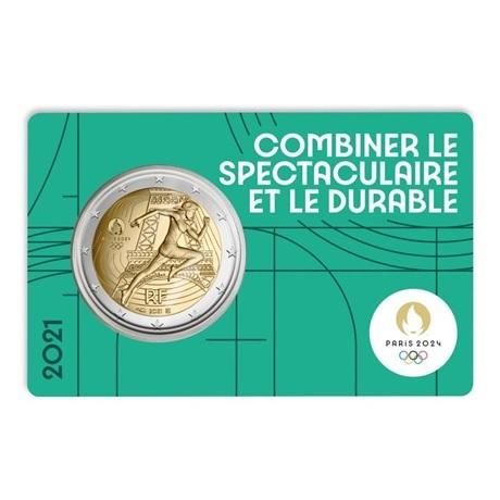 (EUR07.BU.2021.10041355780000) 2 euro France 2021 BU - Jeux Olympiques de Paris Recto