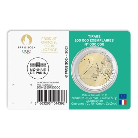 (EUR07.BU.2021.10041355780000) 2 euro France 2021 BU - Jeux Olympiques de Paris Verso