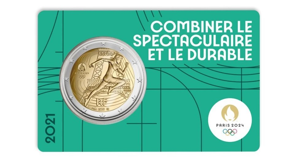 (EUR07.BU.2021.10041355780000) 2 euro France 2021 BU - Paris Olympic Games Front (zoom)