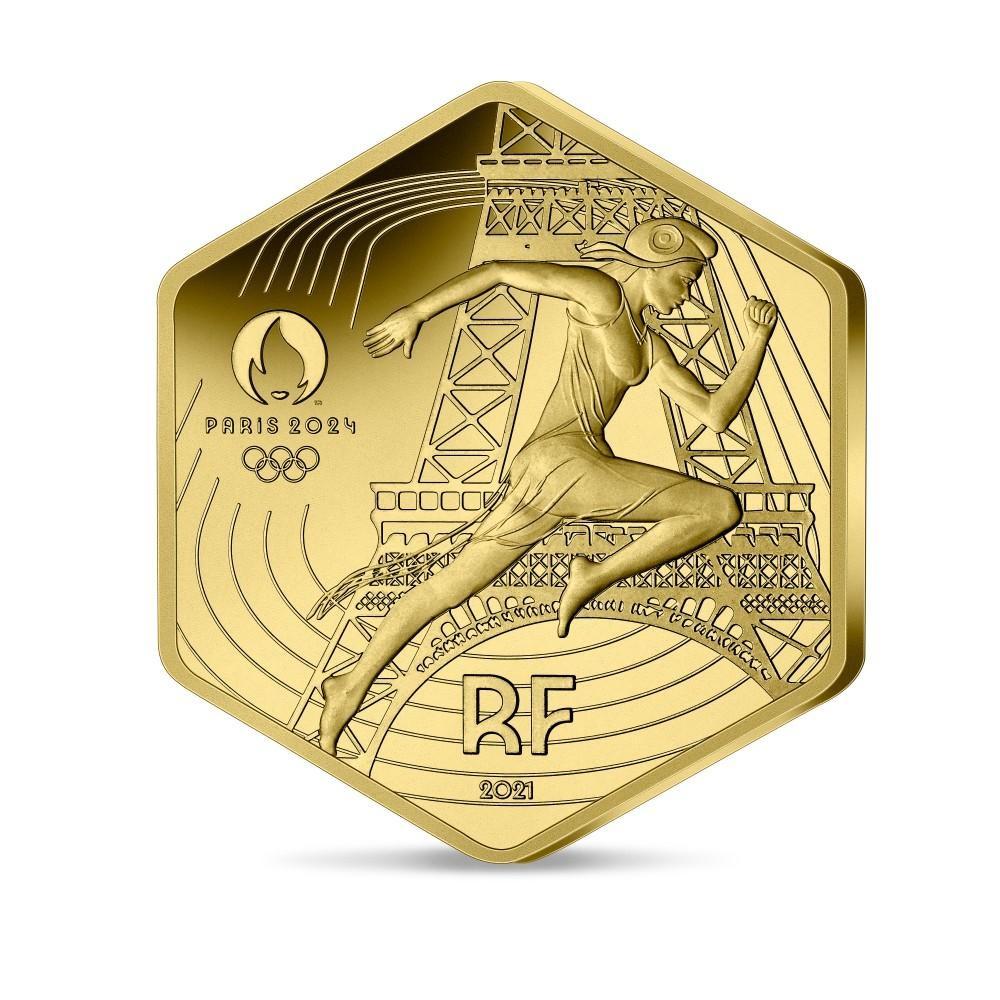 (EUR07.BU.2021.10041355800001) 250 euro France 2021 BU gold - Paris Olympic Games Obverse (zoom)