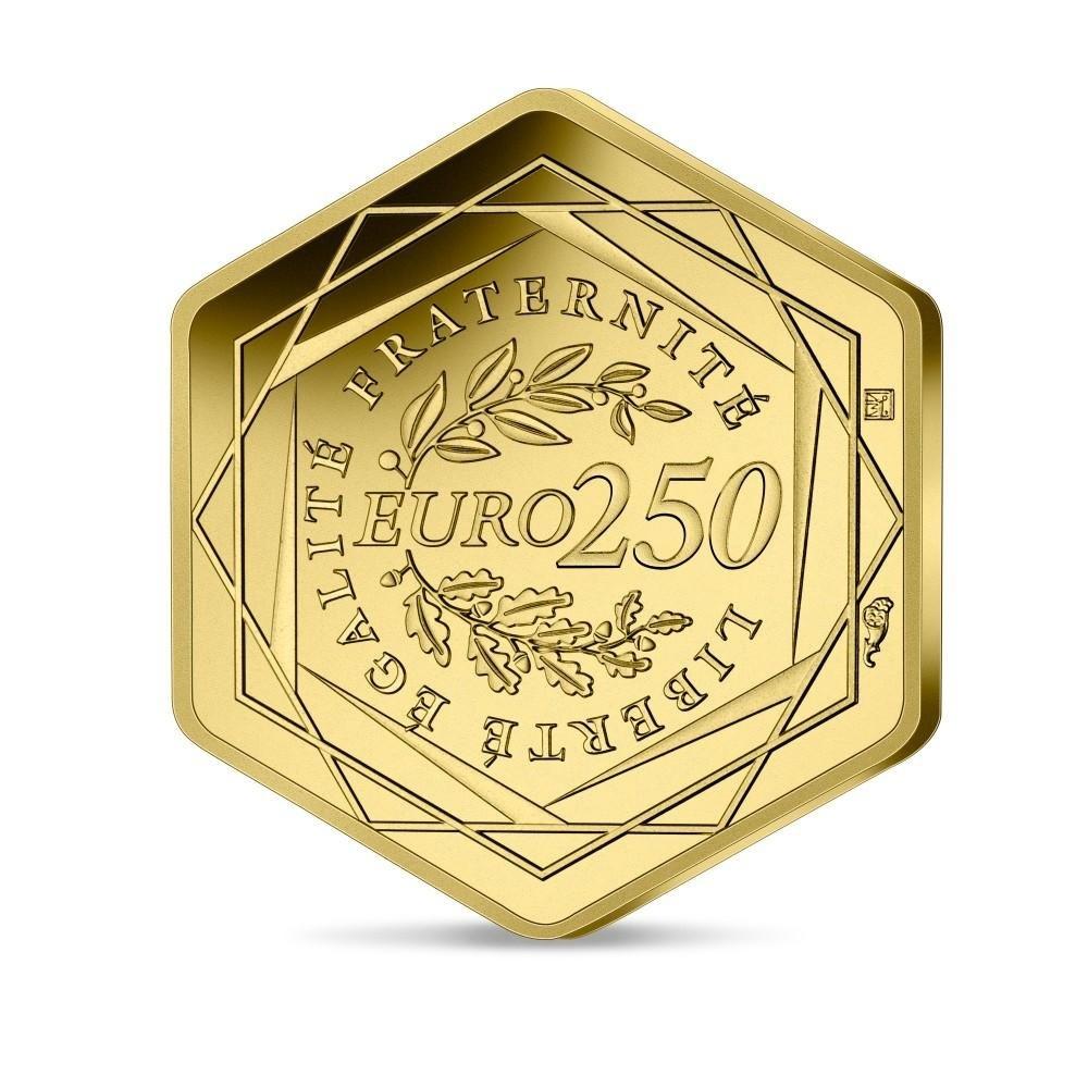 (EUR07.BU.2021.10041355800001) 250 euro France 2021 BU gold - Paris Olympic Games Reverse (zoom)