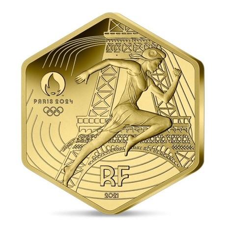 (EUR07.BU.2021.10041355800001) 250 euro France 2021 or BU - Jeux Olympiques de Paris Avers