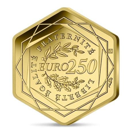 (EUR07.BU.2021.10041355800001) 250 euro France 2021 or BU - Jeux Olympiques de Paris Revers