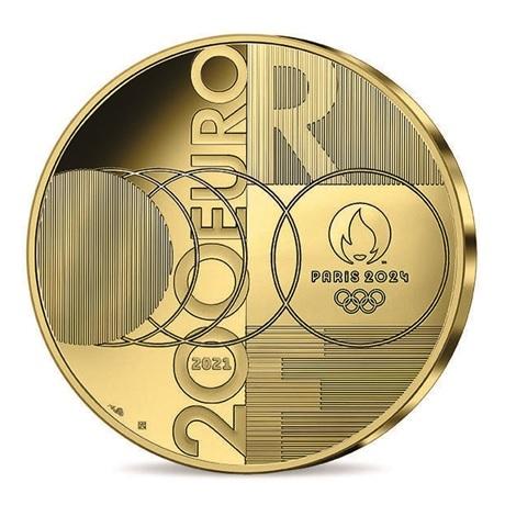 (EUR07.Proof.2021.10041355540000) 200 euro France 2021 or BE - Jeux Olympiques de Paris Revers