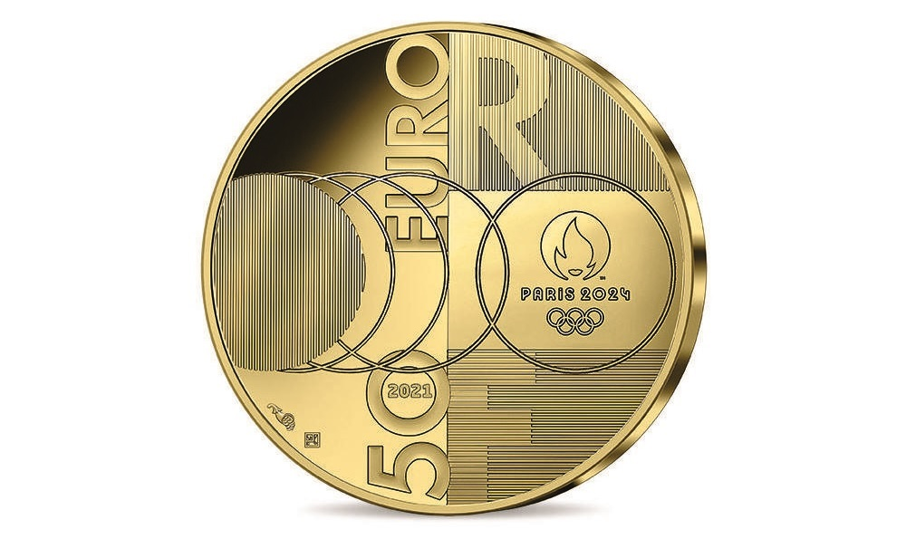 (EUR07.Proof.2021.10041355550000) 50 euro France 2021 Proof gold - Paris Olympics Reverse (zoom)