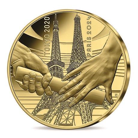 (EUR07.Proof.2021.10041355550000) 50 euro France 2021 or BE - Jeux Olympiques de Paris Avers