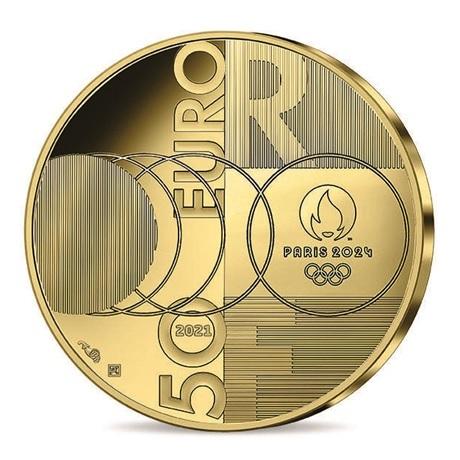 (EUR07.Proof.2021.10041355550000) 50 euro France 2021 or BE - Jeux Olympiques de Paris Revers