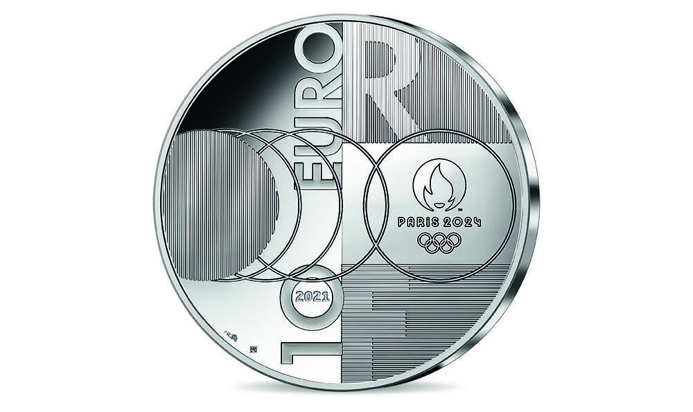 (EUR07.Proof.2021.10041355560000) 10 euro France 2021 Proof silver - Paris Olympics Reverse (zoom)