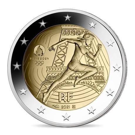 (EUR07.Proof.2021.10041355730000) 2 euro commémorative France 2021 BE - Jeux Olympiques de Paris Avers