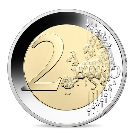 (EUR07.Proof.2021.10041355730000) 2 euro commémorative France 2021 BE - Jeux Olympiques de Paris Revers