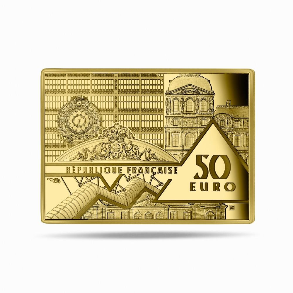 (EUR07.Proof.2021.10041356310000) 50 euro France 2021 Proof gold - Persistence of Memory Obverse (zoom)