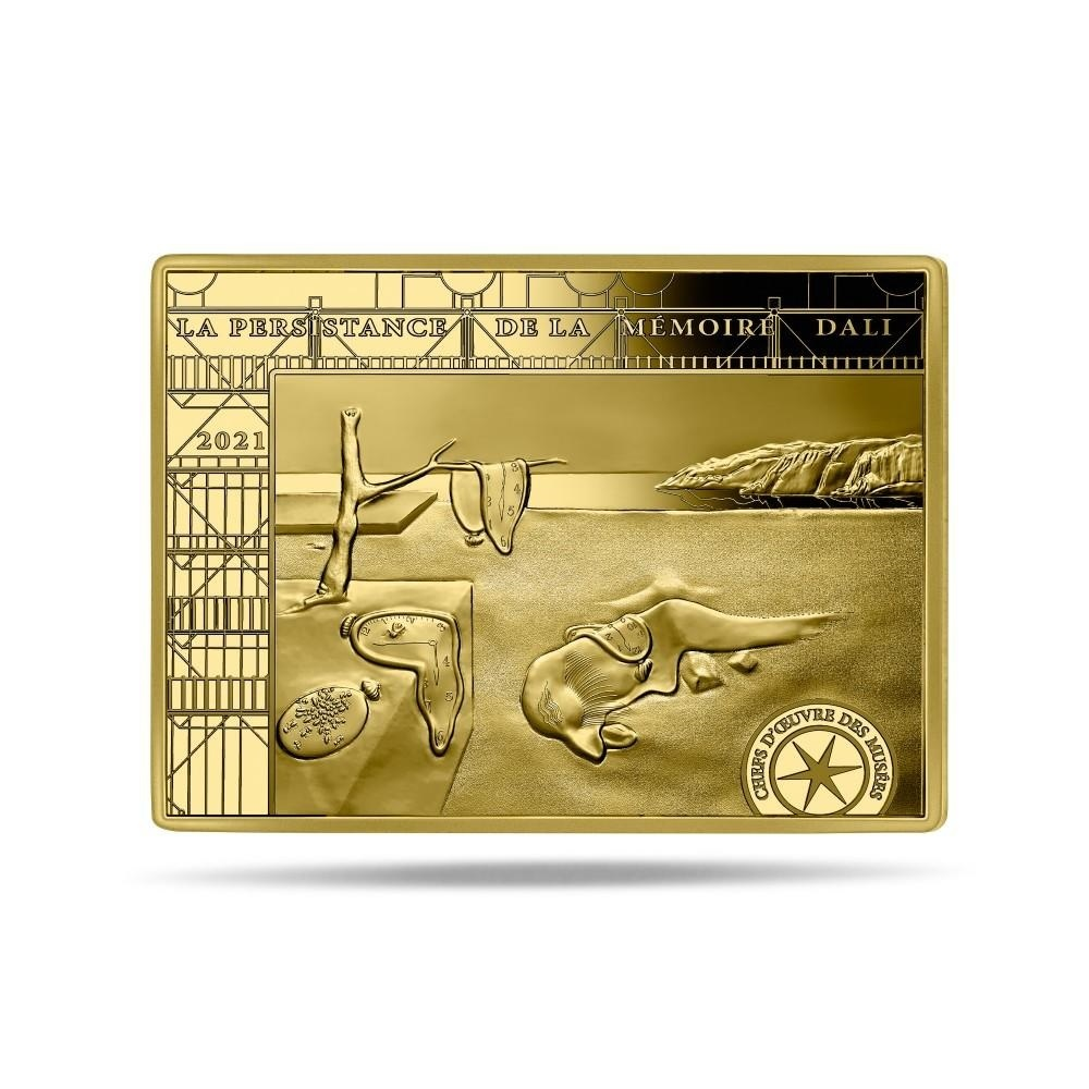 (EUR07.Proof.2021.10041356310000) 50 euro France 2021 Proof gold - Persistence of Memory Reverse (zoom)