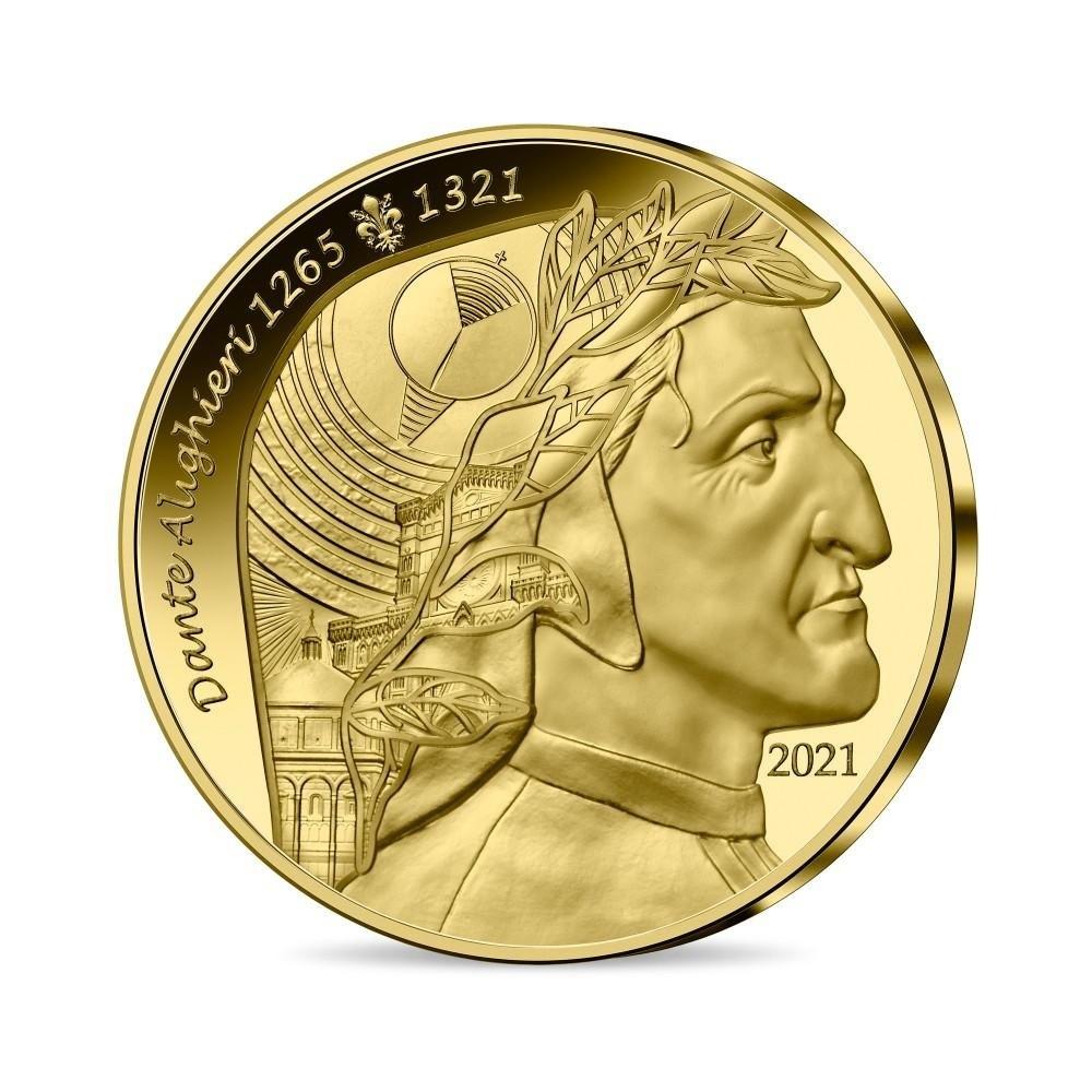 (EUR07.Proof.2021.10041356650000) 50 euro France 2021 Proof gold - Dante Alighieri Obverse (zoom)