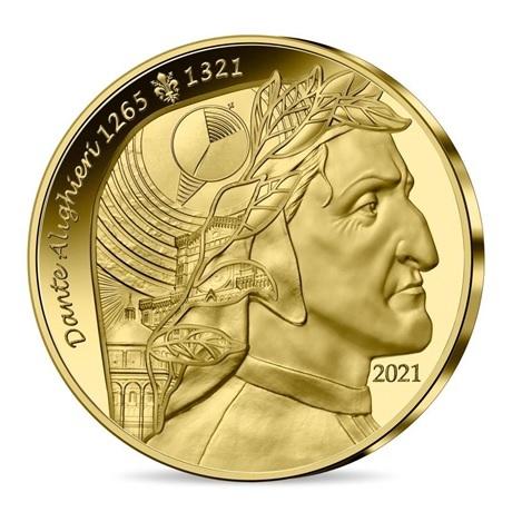 (EUR07.Proof.2021.10041356650000) 50 euro France 2021 or BE - Dante Alighieri Avers