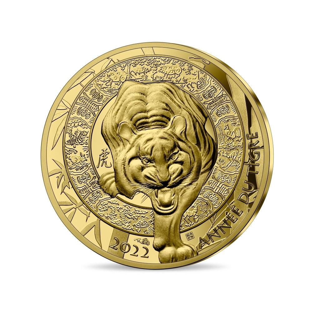 (EUR07.Proof.2022.10041359520000) 50 euro France 2022 Proof gold - Year of the Tiger Obverse (zoom)