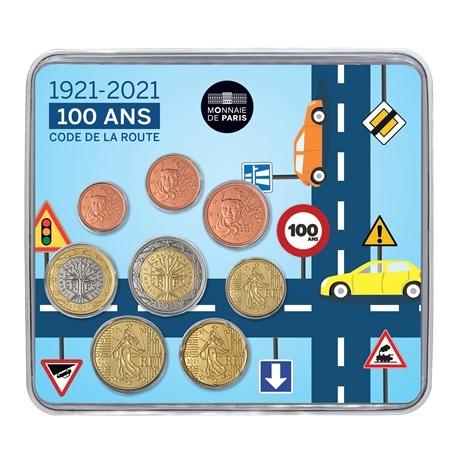 (EUR07.mini-set.2021.10041360850000) Mini-set BU France 2021 - Code de la route Recto
