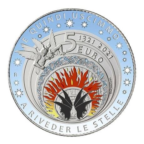 (EUR10.BU.2021.48-2MS10-21F016) 5 euro Italie 2021 argent BU - Dante Alighieri Revers