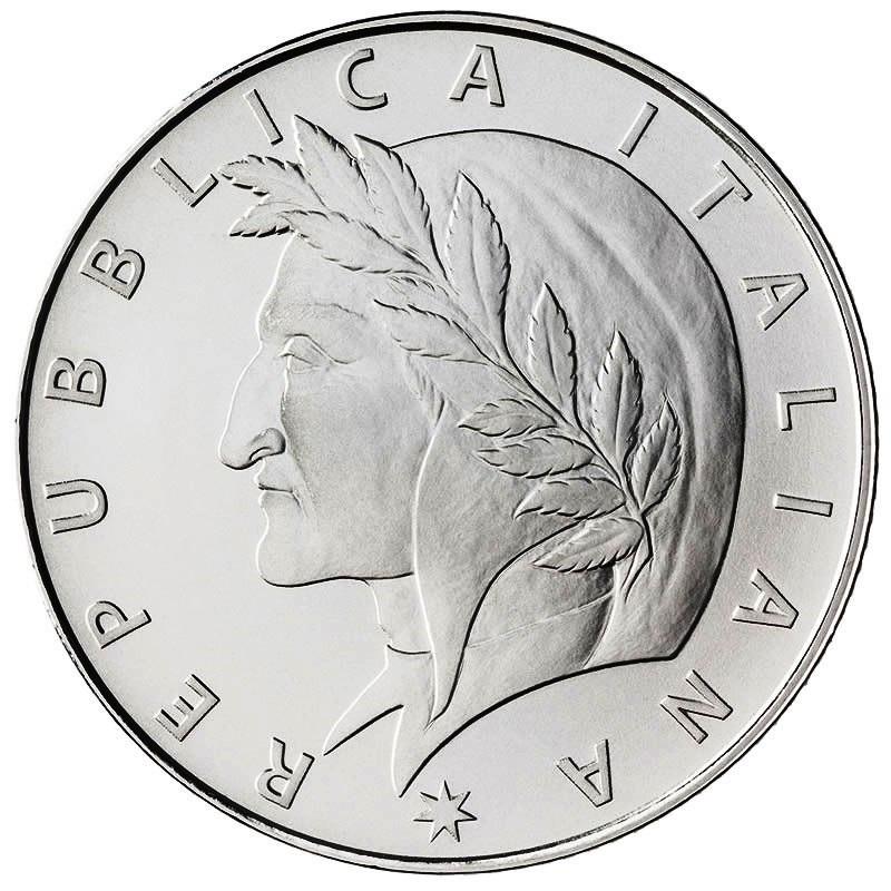 (EUR10.BU.2021.48-2MS10-21F016) 5 euro Italy 2021 BU silver - Dante Alighieri Obverse (zoom)