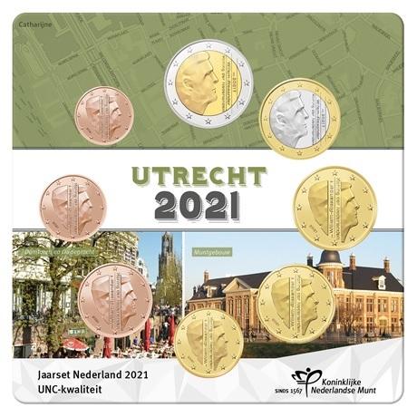 (EUR14.Unc.set.2021.0111533) Coffret UNC Pays-Bas 2021 (Utrecht) Recto