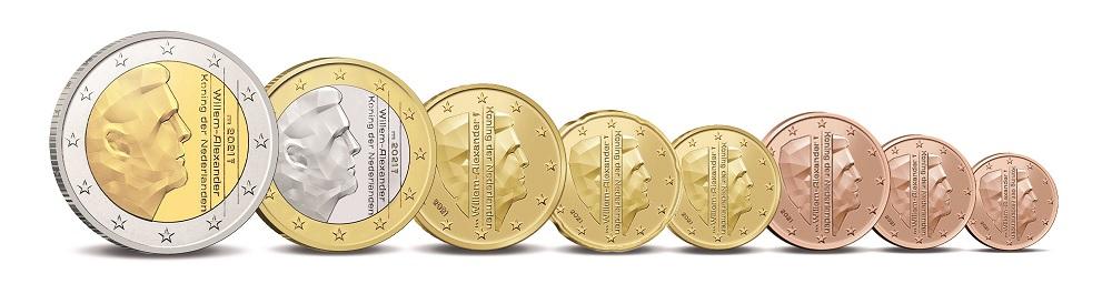 (EUR14.Unc.set.2021.0111533) Uncirculated set Netherlands 2021 (Utrecht) (coins) (zoom)