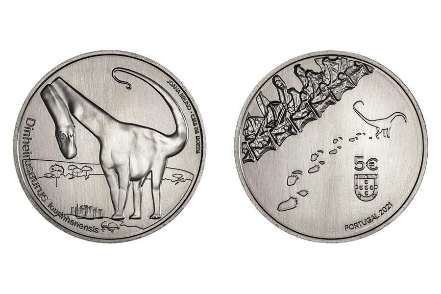 (EUR15.5.E.2021.12500539) 5 € Portugal 2021 - Dinheirosaurus lourinhanensis (blog illustration)