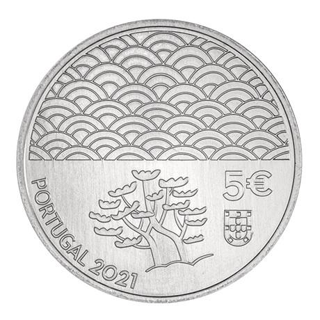 (EUR15.5.E.2021.12500616) 5 euro Portugal 2021 - Art de la laque Avers