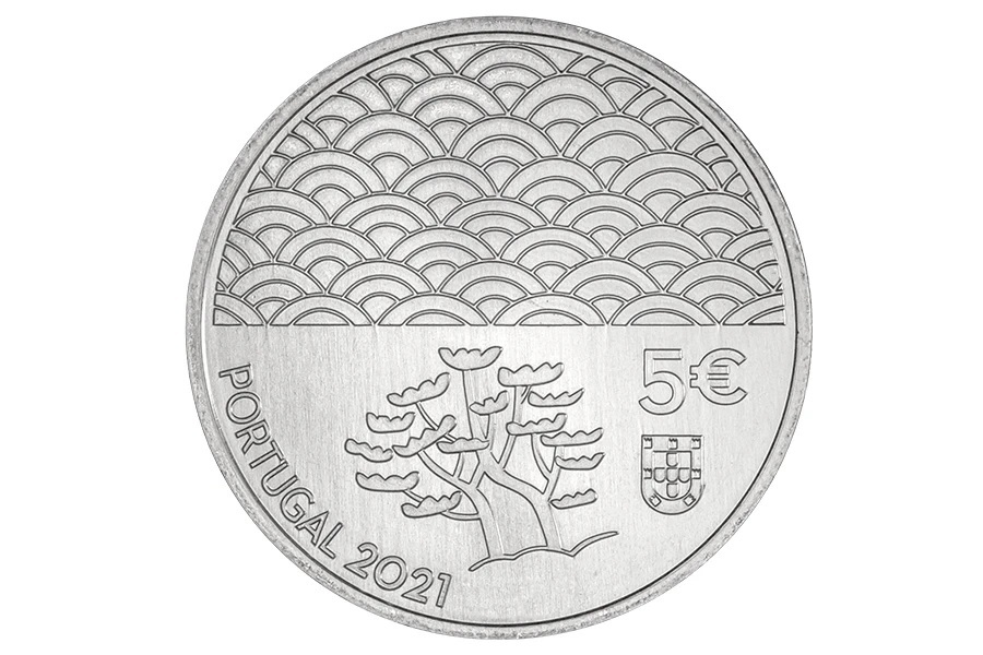 (EUR15.5.E.2021.12500616) 5 euro Portugal 2021 - The Art of Lacquer Obverse (zoom)