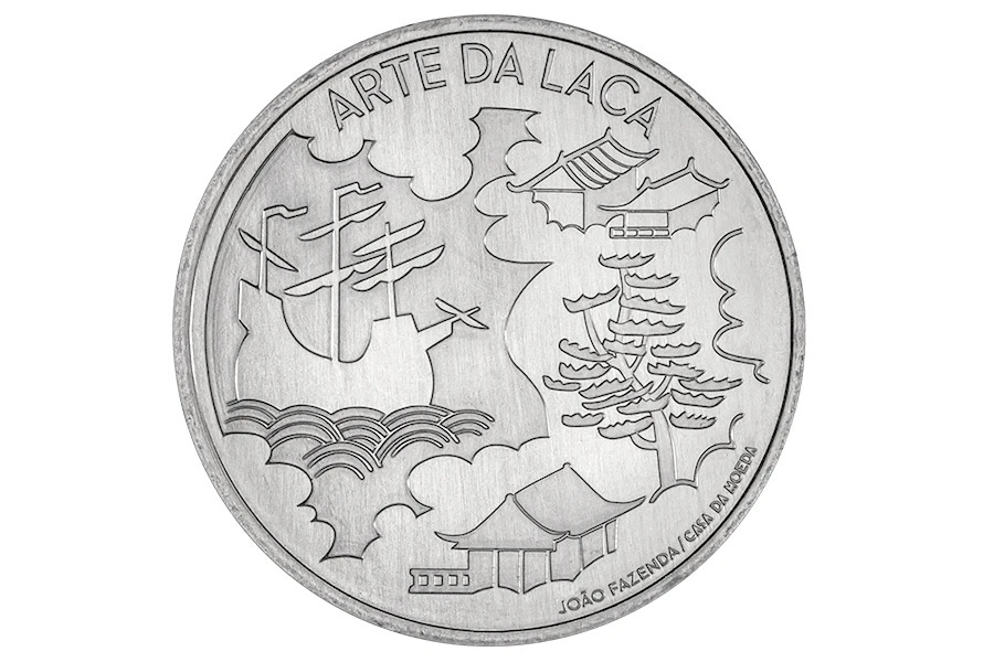 (EUR15.5.E.2021.12500616) 5 euro Portugal 2021 - The Art of Lacquer Reverse (zoom)
