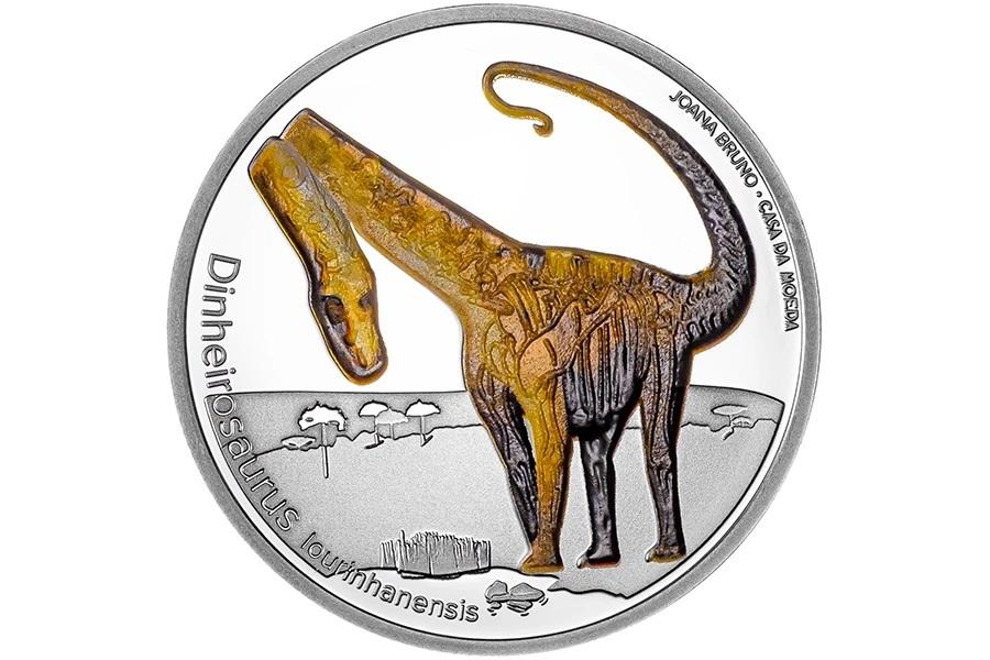 (EUR15.Proof.2021.1024291) 5 € Portugal 2021 Proof Ag - Dinheirosaurus Reverse (zoom)