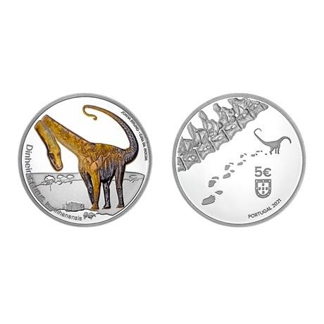 (EUR15.Proof.2021.1024291) 5 euro Portugal 2021 Ag BE - Dinheirosaurus