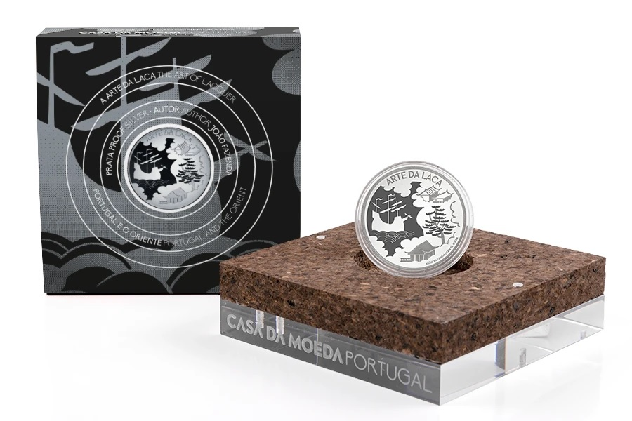 (EUR15.Proof.2021.1024293) 5 euro Portugal 2021 Proof Ag - The Art of Lacquer (packaging) (zoom)