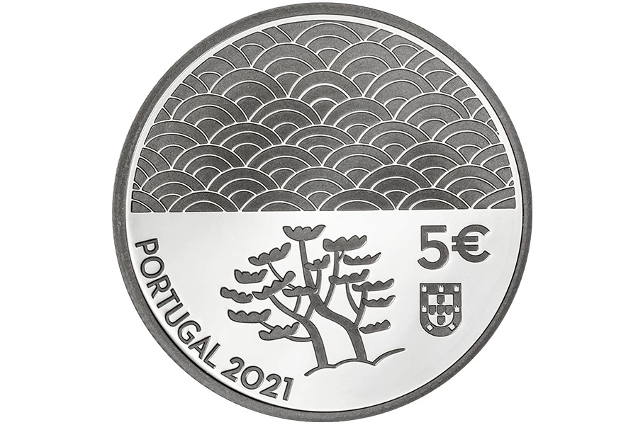 (EUR15.Proof.2021.1024293) 5 euro Portugal 2021 Proof silver - The Art of Lacquer Obverse (zoom)