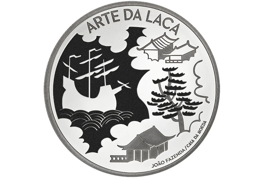 (EUR15.Proof.2021.1024293) 5 euro Portugal 2021 Proof silver - The Art of Lacquer Reverse (zoom)