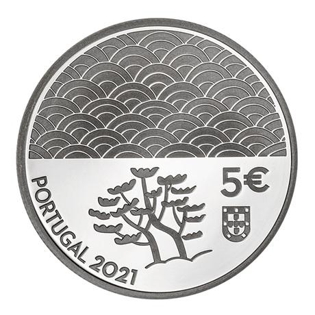 (EUR15.Proof.2021.1024293) 5 euro Portugal 2021 argent BE - Art de la laque Avers