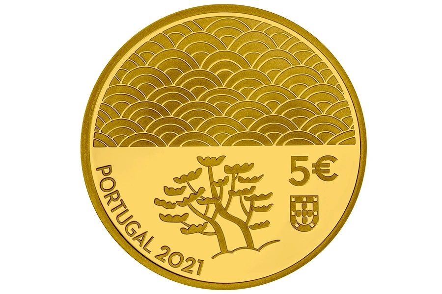 (EUR15.Proof.2021.1024294) 5 euro Portugal 2021 Proof gold - The Art of Lacquer Obverse (zoom)