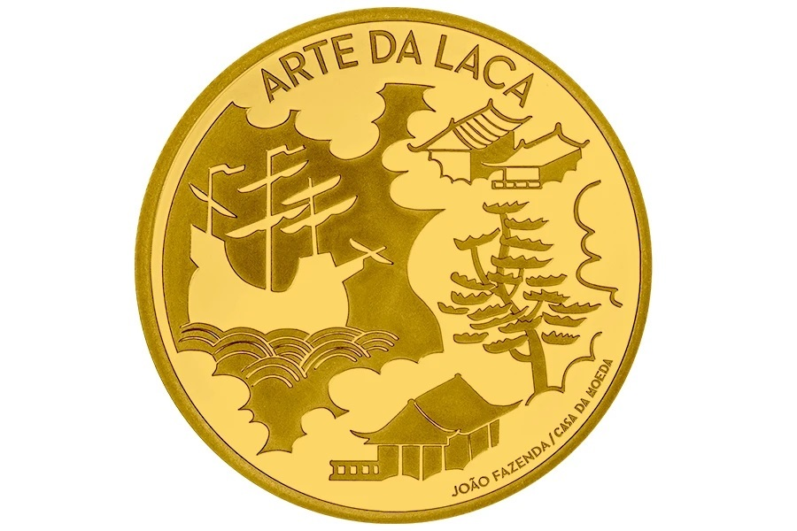 (EUR15.Proof.2021.1024294) 5 euro Portugal 2021 Proof gold - The Art of Lacquer Reverse (zoom)