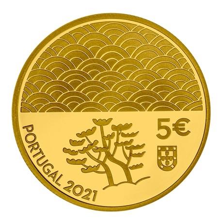 (EUR15.Proof.2021.1024294) 5 euro Portugal 2021 or BE - Art de la laque Avers