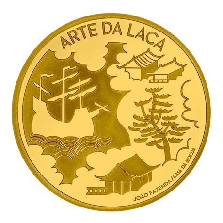(EUR15.Proof.2021.1024294) 5 euro Portugal 2021 or BE - Art de la laque Revers