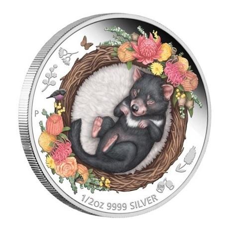 (W017.50.C.2021.21I58AAA) 50 Cents Australie 2021 0,5 oz Ag BE - Diable de Tasmanie (tranche)