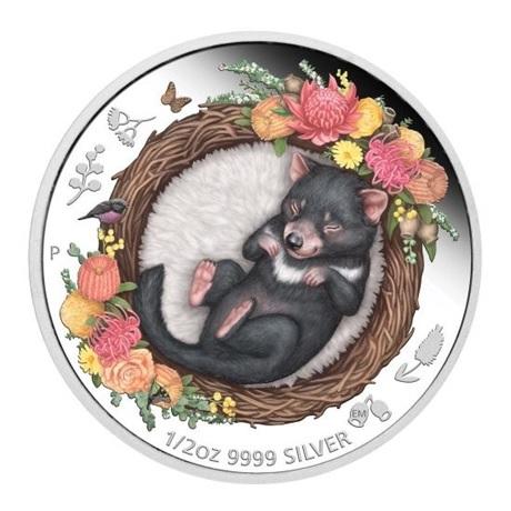 (W017.50.C.2021.21I58AAA) 50 Cents Australie 2021 0,5 oz argent BE - Diable de Tasmanie Revers
