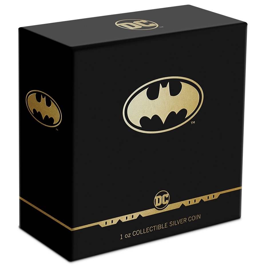 (W160.2.D.2021.30-01129) 2 Dollars Niue 2021 1 ounce Proof Ag - Batman logo (box) (zoom)