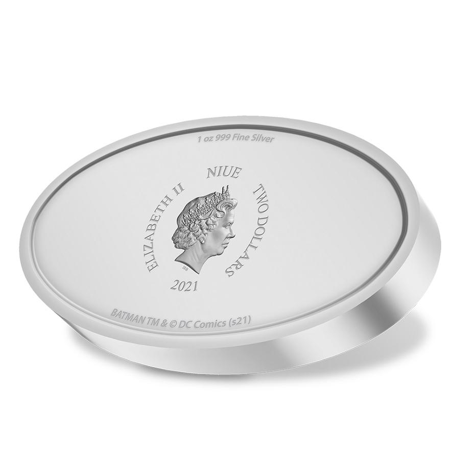(W160.2.D.2021.30-01129) 2 Dollars Niue 2021 1 oz Proof silver - Batman logo Obverse (zoom)