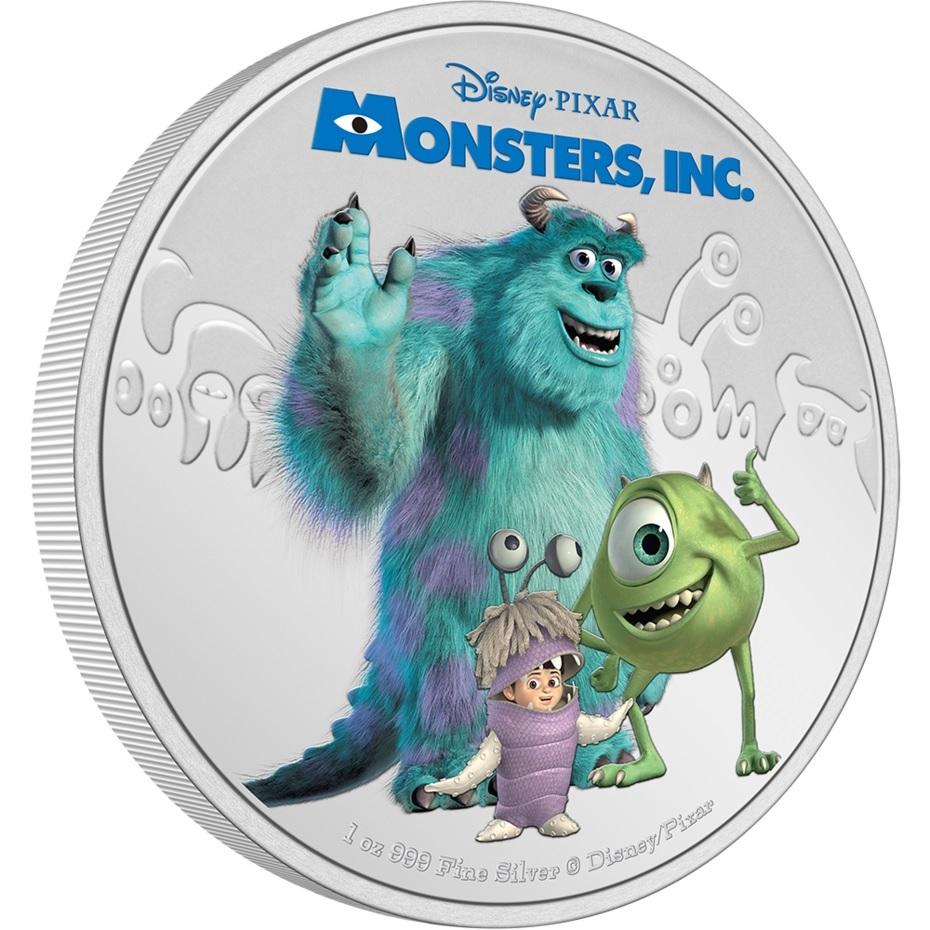 (W160.2.D.2021.30-01132) 2 Dollars Niue 2021 1 oz Proof Ag - Monsters, Inc. (edge) (zoom)