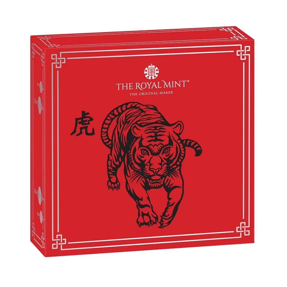 (W185.2.P.2022.UKT22SP) 2 £ United Kingdom 2022 1 oz Proof Ag - Year of the Tiger (packaging) (zoom)
