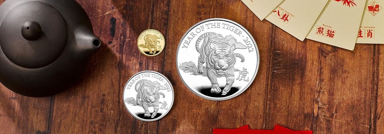 (W185.2.P.2022.UKT22SP) 2 Pounds United Kingdom 2022 1 oz Proof Ag - Year of Tiger (blog illustration)