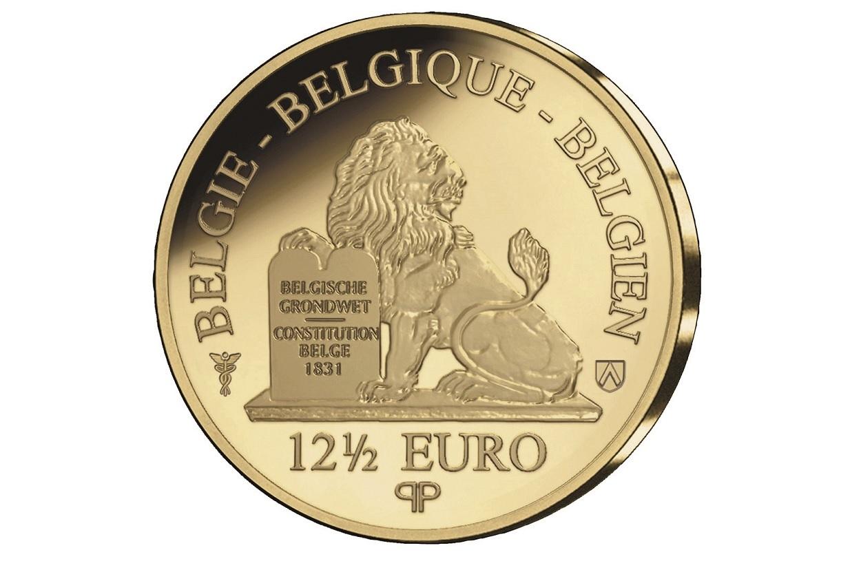 (EUR02.Proof.2021.12.5.E.1) 12.50 euro Belgium 2021 Proof gold - Antwerp, City of Diamonds Reverse (zoom)